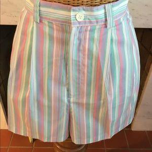 Vintage New Pastel Stripe Mom's Shorts